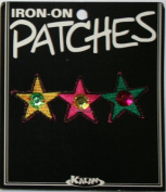 3 Stars Jewel Iron On Applique Patch