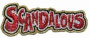 Scandalous Metallic Iron On Applique Patch EPB072