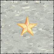 3.8cm Star Embroidered Iron on Applique Patch FD - Neon Orange