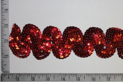 Sequin Trim Serpentine Red 5.1cm wide Sold by the Yard