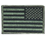 Flag Patch - American Flag Subdued Reverse, 5.1cm x 7.6cm by Rothco
