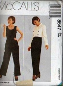 McCall's Sewing Pattern 8547 Misses' Lined Jacket and Lined Jumpsuit, Size AX