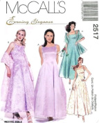 McCall's Sewing Pattern 2517 Misses' Formal Lined Dress, Crinoline & Stole, Size D