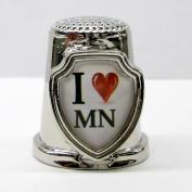 Souvenir Thimble - I love MN - Minnesota