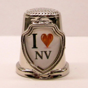 Souvenir Thimble - I love NV - Nevada