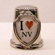 Souvenir Thimble - I love NV - Nevada