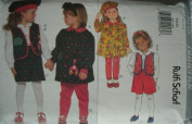 Butterick Sewing Pattern 3648 Girls' Dress, Vest, Blouse, Shorts, Leggings & Beret, Size 5 6 6x