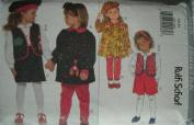 Butterick Sewing Pattern 3648 Girls' Dress, Vest, Blouse, Shorts, Leggings & Beret, Size 5 6 6x