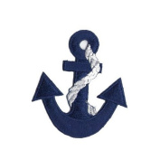 """"""" Anchor """" Iron On Patch Blue"""
