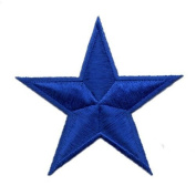 """"""" Blue Star """" Iron On Patch"""