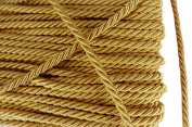 Gold Shiny Twist Cord Choker Thread Twine String Rope Piping Supplies Chain 3 Yards