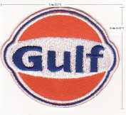Gulf Gas & Oil Station Embroidered Iron on Patch