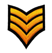 Sergeant Rank Military Army Costume DIY Applique Embroidered Sew Iron on Patch