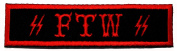FTW Outlaw Motorcycle Club Gangster Biker DIY Applique Embroidered Sew Iron on Patch
