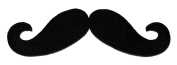 Black Moustache DIY Embroidered Sew Iron on Patch