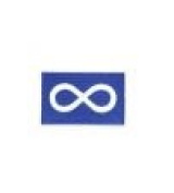 Metis Blue Native Flag Infinity Small Iron on Patch Crest Badge .. 3.8cm X 6.4cm ... New