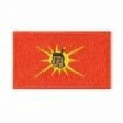 Mohawk Native Flag Small Iron on Patch Crest Badge .. 3.8cm X 6.4cm ... New