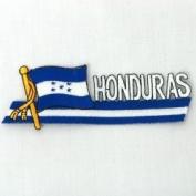 Honduras Sidekick Word Country Flag Iron on Patch Crest Badge .. 3.8cm X 11cm ... New