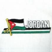 Jordan Sidekick Word Country Flag Iron on Patch Crest Badge ... 3.8cm X 11cm ... New