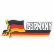 Germany Sidekick Word Country Flag Iron on Patch Crest Badge .. 3.8cm X 11cm ... New