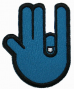 Shocker Hand Gesture Iron On Patch