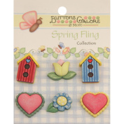 Spring Buttons-Signs Of Spring