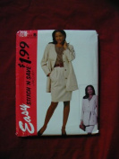 McCall's Easy Stitch 'N Save Pattern 7210 Jacket, Top and Skirt Misses' Size 18-20-22-24