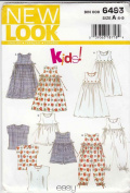 New Look Pattern Girls Dress or Romper Size A 4-9