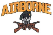 Airborne Patch - Skull/Guns