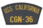 USS California CGN-36 Patch