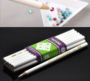 Housweety 10pcs Rhinestone Pickup Pencils Tools for Nail Art, Scrapbooking