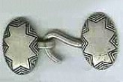 Star Design Clasp in Antique Silver Finish