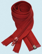 90cm Light Weight Jacket Zipper ~ YKK #5 Nylon Coil Separating Zippers - 519 Hot Red
