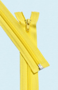 90cm Light Weight Jacket Zipper ~ YKK #5 Nylon Coil Separating Zippers - 504 Brite Yellow