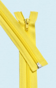 90cm Light Weight Jacket Zipper ~ YKK #5 Nylon Coil Separating Zippers - 504 Brite Yellow