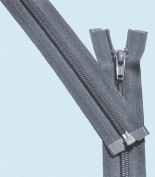 90cm Light Weight Jacket Zipper ~ YKK #5 Nylon Coil Separating Zippers - 579 Dark Grey
