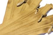 15cm Unique Invisible Zipper YKK 508 Golden Brown