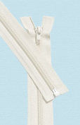 90cm Light Weight Jacket Zipper ~ YKK #5 Nylon Coil Separating Zippers - 841 Off White