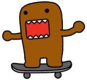 Domo Japanese Animation Cartoon Patch - 7.6cm Skateboard