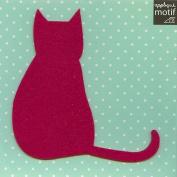 Fushsia Cat Design Iron on Applique