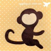 Brown Monkey Design Iron on Applique