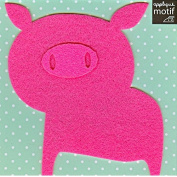 Pink Pig Design Iron on Applique