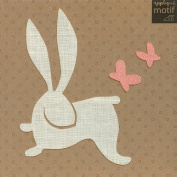 Rabbit Design Large Iron on Applique