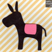 Donkey Design Iron on Applique