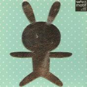 Silver Bunny Design Iron on Applique