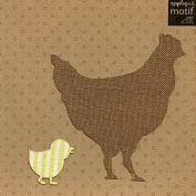 Hen & Chick Design Iron on Applique