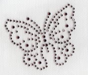 Butterfly Iron On Hot Fix Rhinestone Transfer --Amethyst