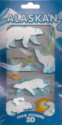 ALASKAN Animals 3D Foam Stickers