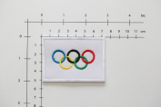Olympic Flag Olympic Ring Flag Patch Embroidered