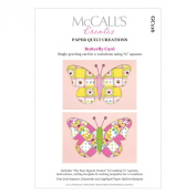 McCall's Creates W10615 Paper Quilt Creations Craft Pattern, Butterfly Card Greeting Card